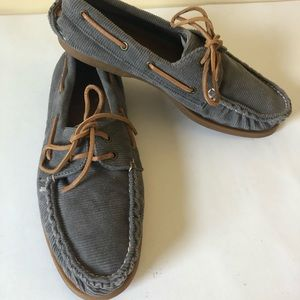 Sperry Topsider boat shoes men's corduroy
